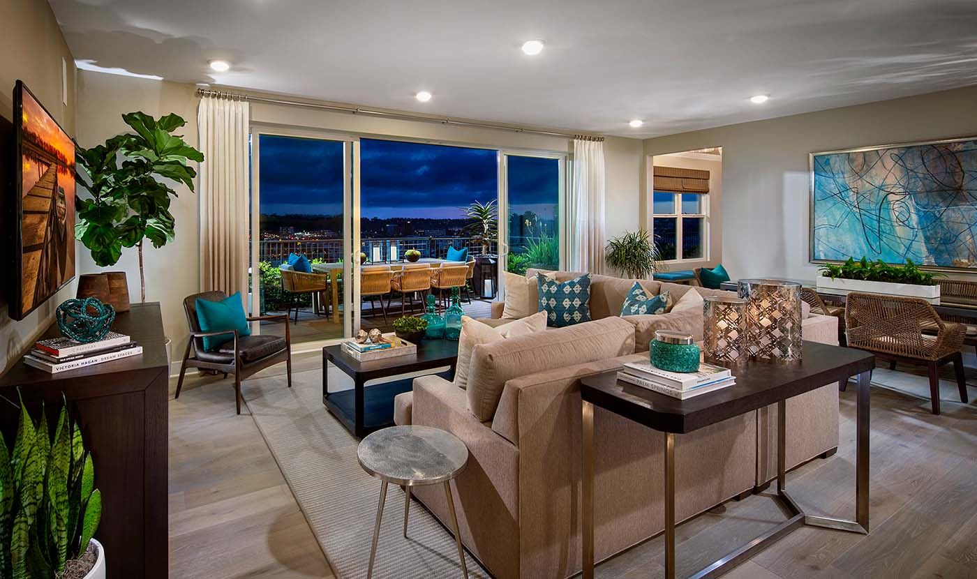 Promontory Plan 6 Model Home Family Room