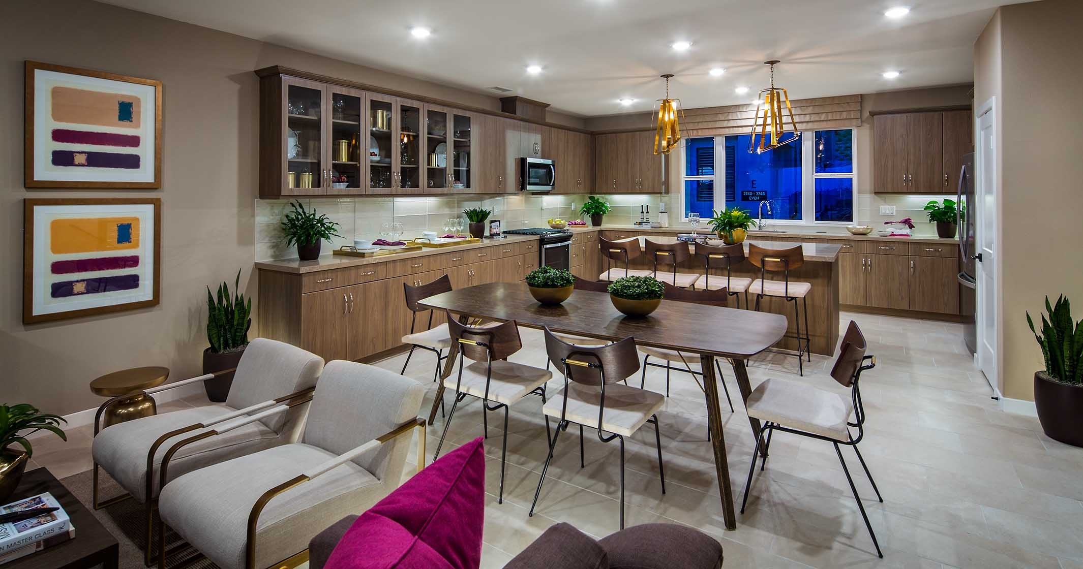 The Bluffs Plan 7 Model Kitchen