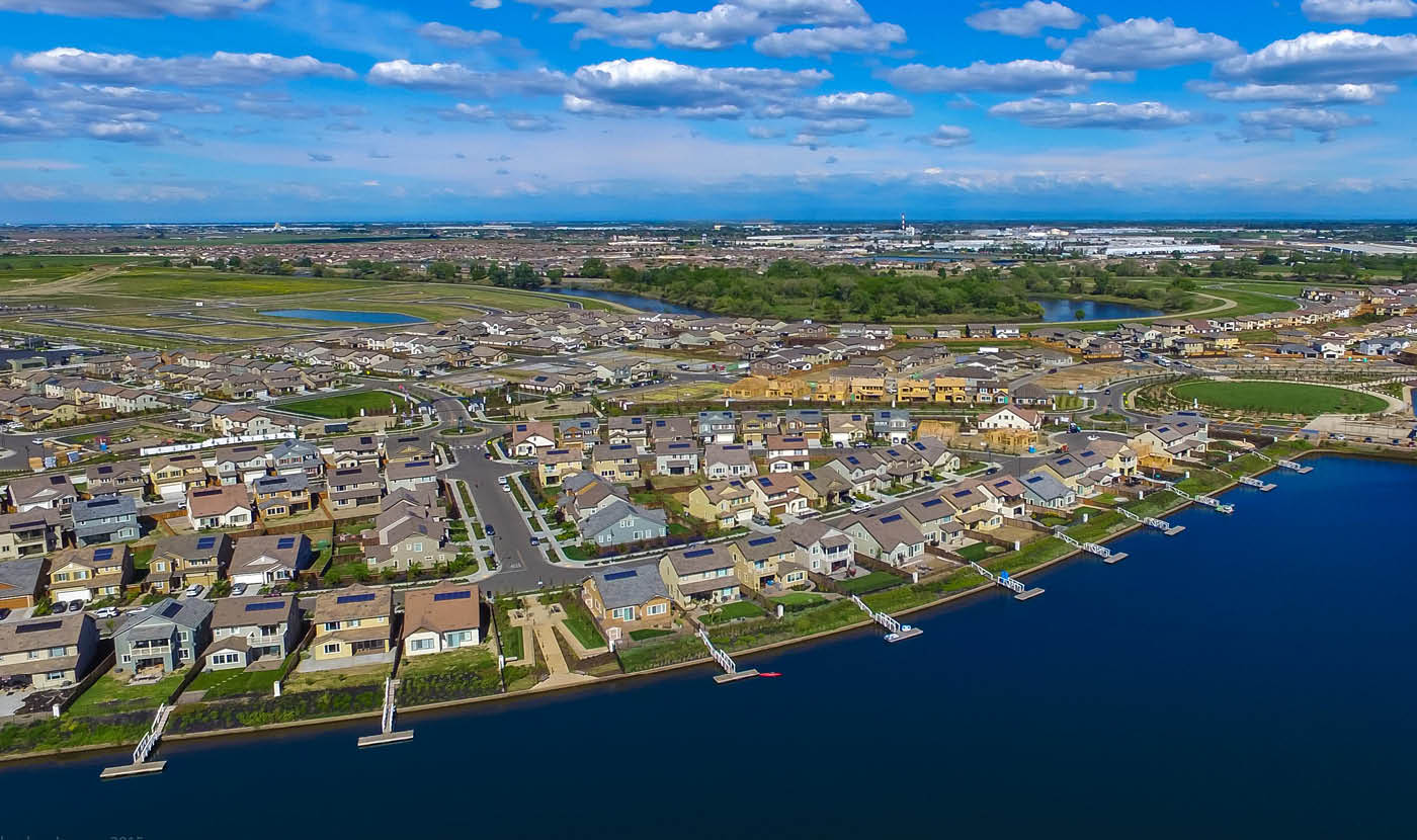 Tidewater aerial photo