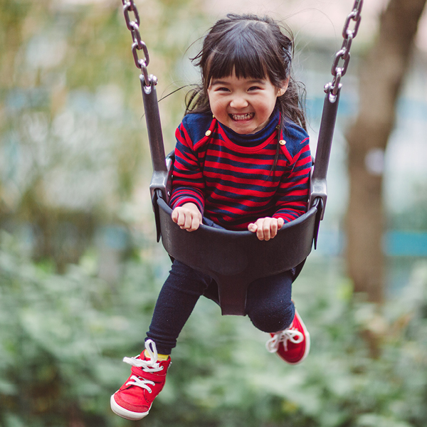Little Girl in Swing