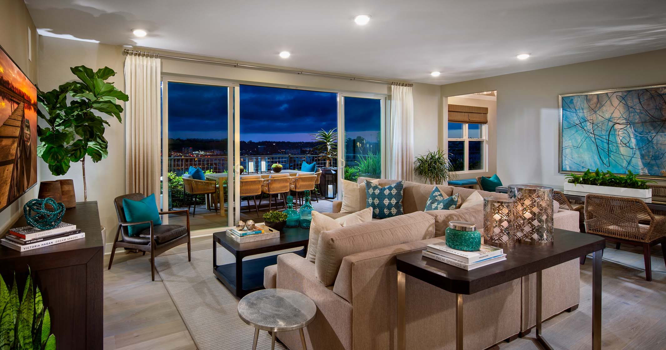 The Bluffs Model Home Living Room