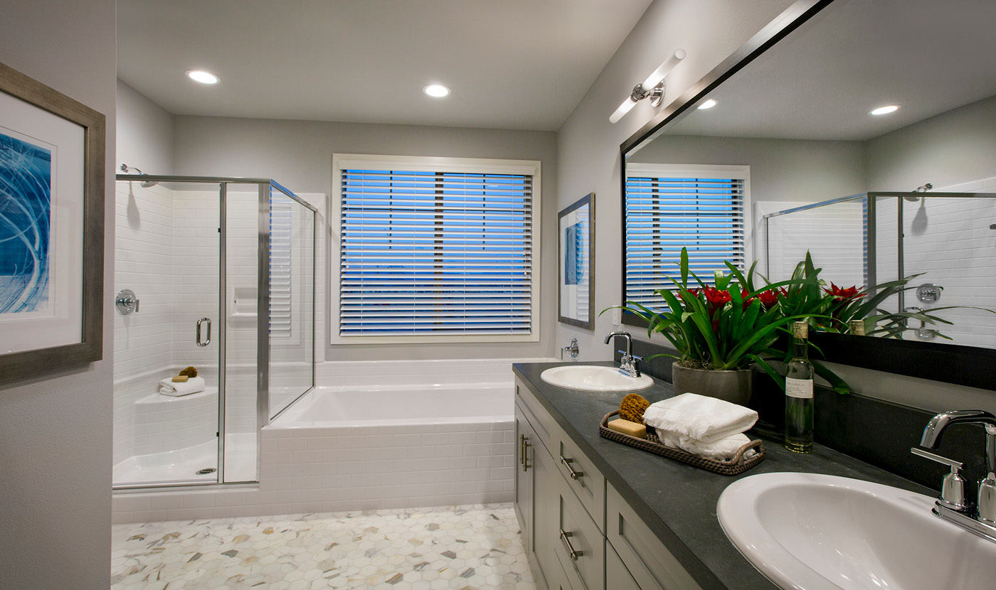 Plan 3 - Seville Model home master bath