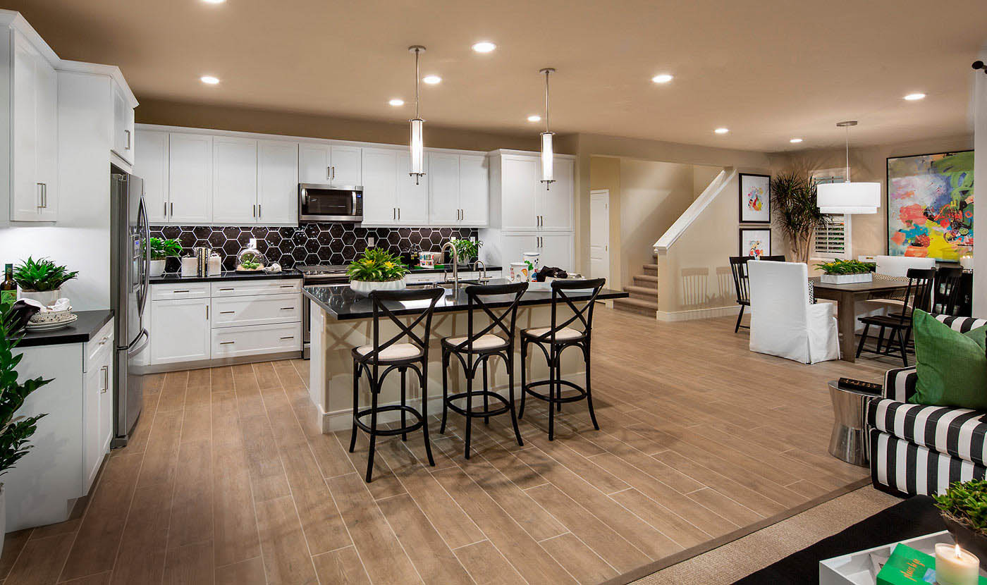 Plan 2 - Model home kitchen