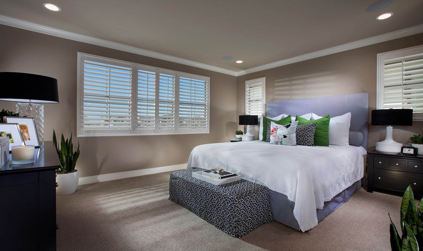 Plan 2 - Model home master suite