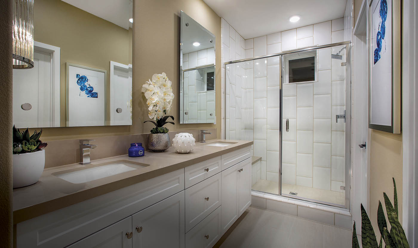 The Heights Plan 1 Model Home Master Bath