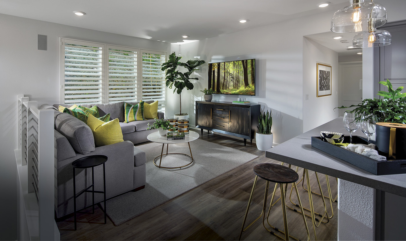 Plan 3 - Model Home Living Room