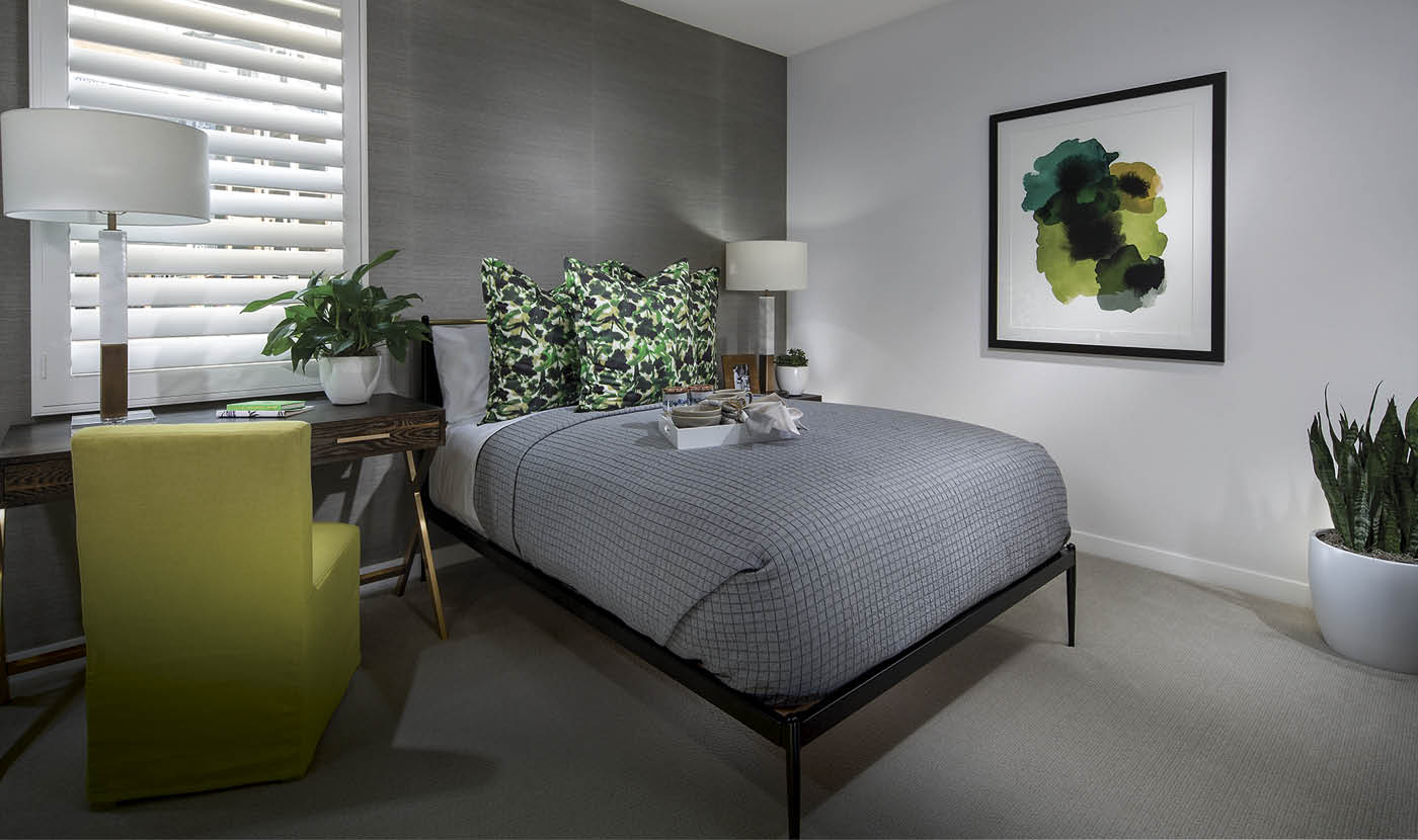 Plan 3 - Model Home Bedroom