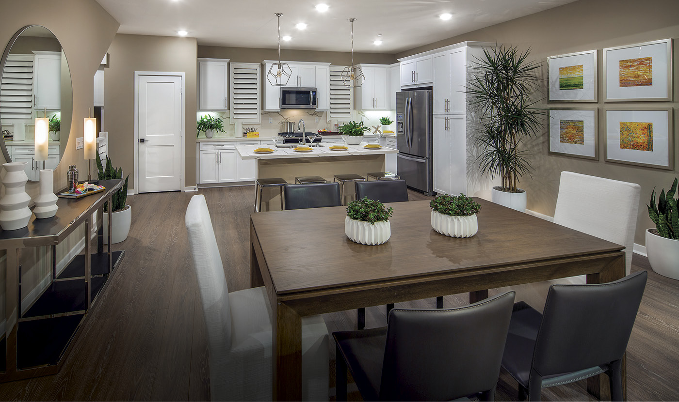 Plan 4 - Model Home Dining Area