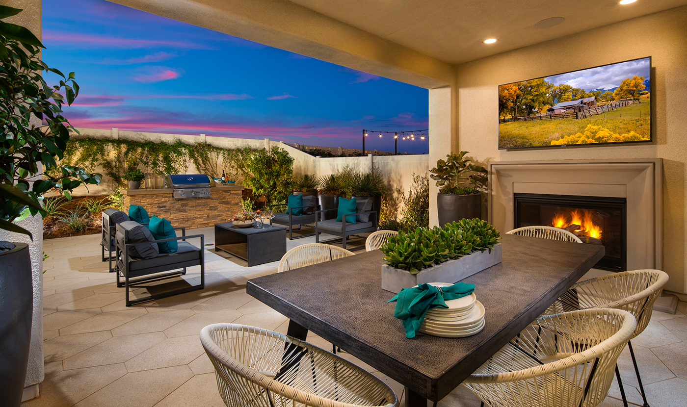 Plan 2 Model home outdoor space