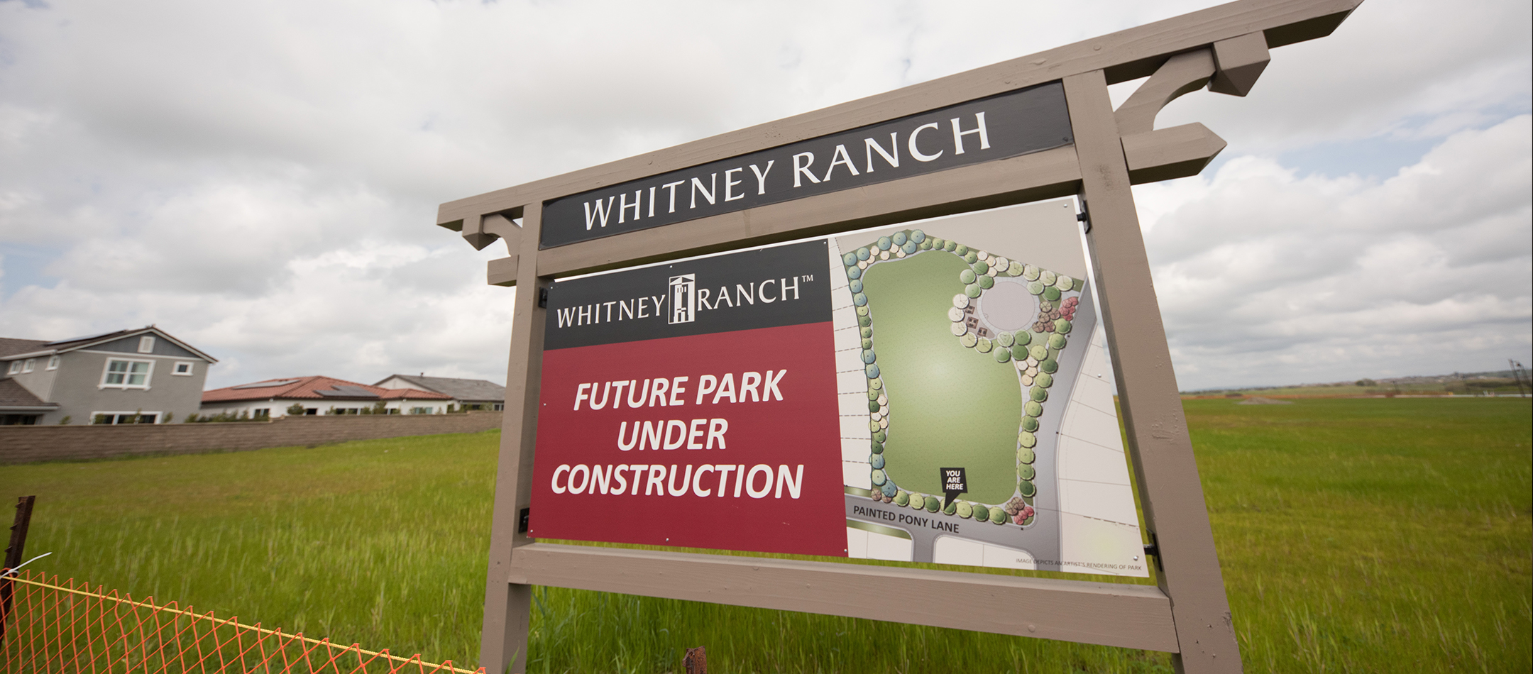 Whitney Ranch future park construction signage