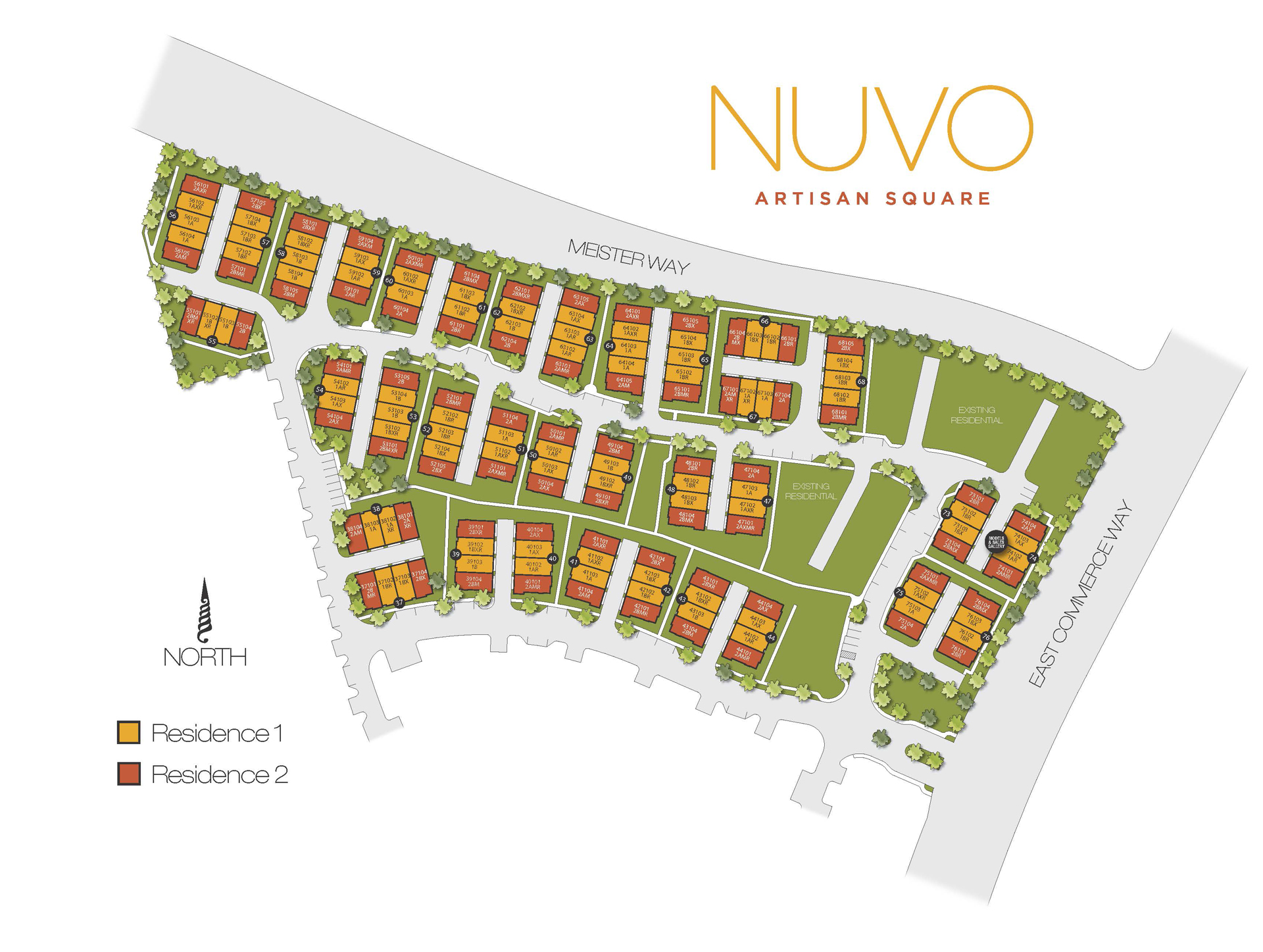 NUVO Artisan Square Site Plan