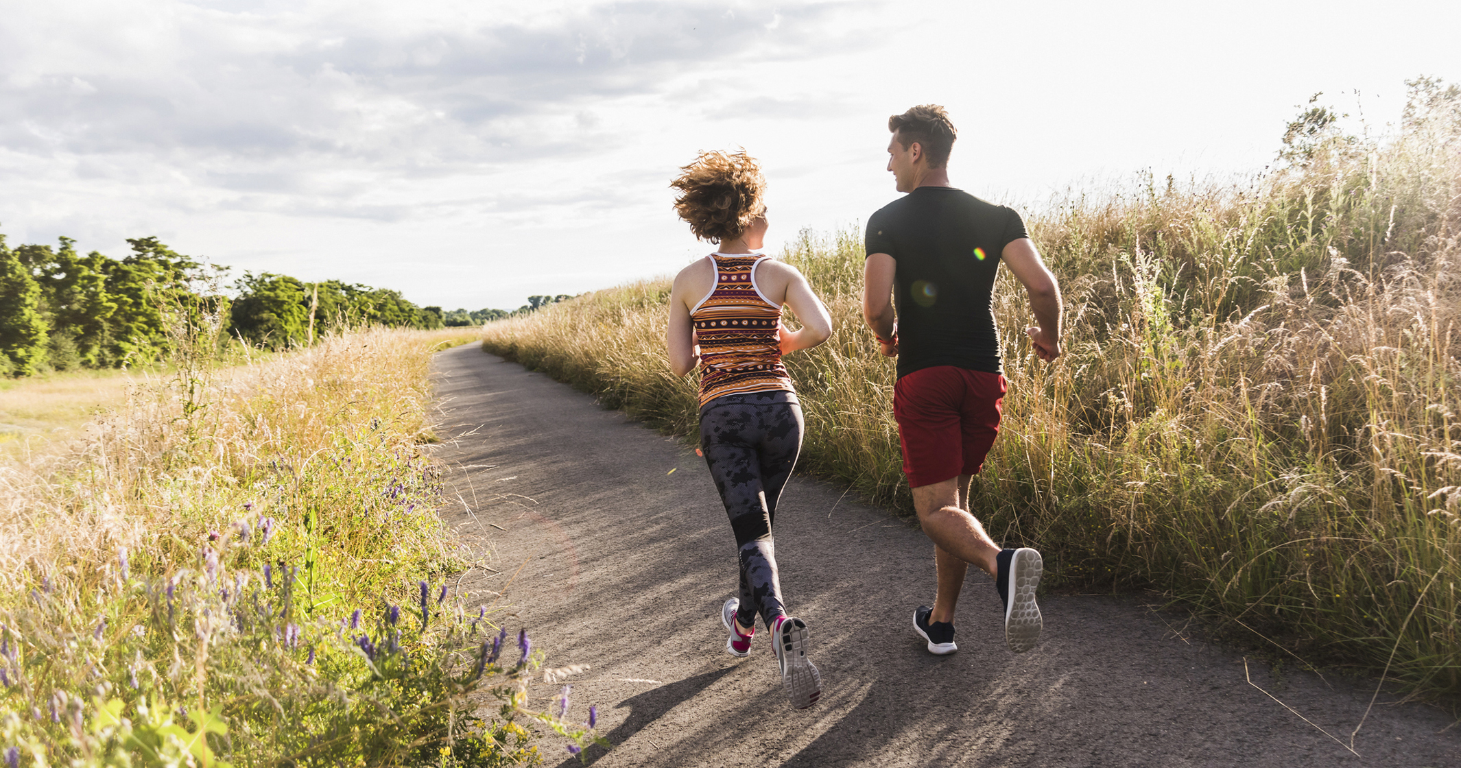 Couple Running Image