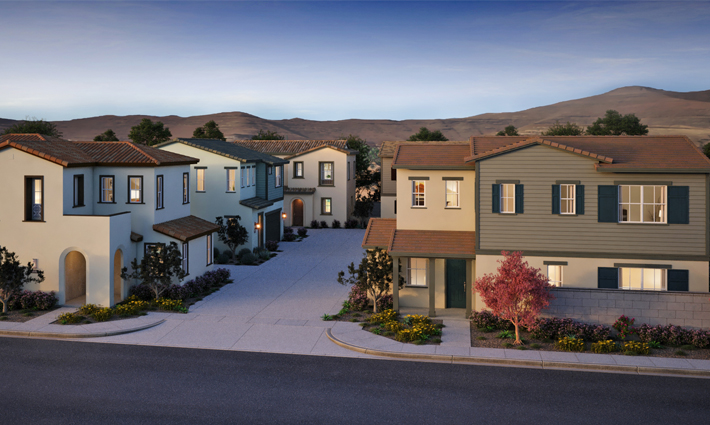Courts at Mariposa Exterior Rendering
